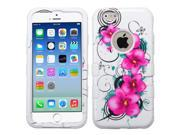 iPhone 6 Case - Rubberized Tuff Hybrid Case Cover for Apple iPhone 6 (4.7-inch), Morning Petunias/Solid White