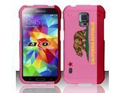 For Samsung Galaxy S5 - Rubberized Design Hard Snap-On Cover - California 3 DP 9SIA0PG1Y28659