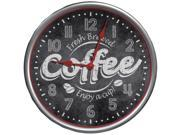 Westclox 32902 It's Time for Coffee Clock