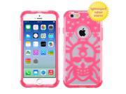 "iPhone 6 Case - eForCity T-Clear/Lightning Electric Pink GloCase Hybrid Rubberized Case Cover (Spider Web) for Apple iPhone 6 (4.7"""")"" 9SIA0PG22A2483"