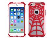 "iPhone 6 Case - eForCity T-Clear/Red GloCase Hybrid Case Cover (Spider Web) for Apple iPhone 6 4.7"""""" 9SIA0PG22A2828"