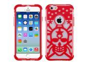 "iPhone 6 Case - eForCity T-Clear/Red GloCase Hybrid Rubberized Case Cover (Spider Web) for Apple iPhone 6 (4.7"""")"" 9SIA0PG22A2799"