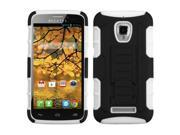ASMYNA Black / White Car Armor Stand Protector Case (Rubberized ) compatible with Alcatel 7024W (One Touch Fierce )