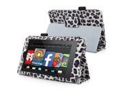 """Amazon Kindle Fire HD 6"""" Case - eForCity Stand Leather Case for Amazon Kindle Fire HD 6"""",White,Purple Leopard"""