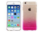 Apple iPhone 6 Case - eForCity Rubberized Hard Snap-in Case Cover For Apple iPhone 6, Clear/Hot Pink