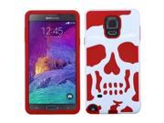 Samsung Galaxy Note 4 Case, eForCity Skullcap Dual Layer [Shock Absorbing] Protection Hybrid Rubberized Hard PC/Silicone Case Cover For Samsung Galaxy Note 4, W