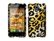 Alcatel One Touch Pop Star Case - eForCity Cheetah Rubberized Hard Snap-in Case Cover for Alcatel One Touch Pop Star, Yellow/Black
