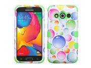 Samsung Galaxy Avant Case, eForCity Tuff Rainbow Bubbles Dual Layer [Shock Absorbing] Protection Hybrid Rubberized Hard PC/Silicone Case Cover for Samsung Galax 9SIA0PG2SF7648
