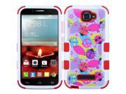 Alcatel One Touch Fierce 2 7040T Case, eForCity Tuff Ladybugs Dual Layer [Shock Absorbing] Protection Hybrid Rubberized Hard PC / Silicone Case For Alcatel One