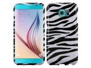 Samsung Galaxy S6 Active Case, eForCity Zebra Rubberized Hard Snap-in Case Cover For Samsung Galaxy S6 Active, Black/White 9SIV01D34N5660