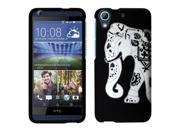 HTC Desire 626 / 626s Case, eForCity Elephant Rubberized Hard Snap-in Case Cover For HTC Desire 626 / 626s, Black/White