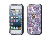 Apple iPod Touch 5th Gen/6th Gen Case, eForCity Verge European Flowers Dual Layer Protection Hybrid Rubberized Hard PC/Silicone Case Cover for Apple iPod Touch 5th Gen/6th Gen, Purple/White