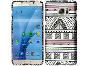 Samsung Galaxy S7 Case, eForCity Antique Aztec Tribal Rubberized Hard Snap-in Case Cover Compatible With Samsung Galaxy S7, Black / White