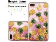 eForCity Pineapple Pink (Stars) Quicksand Glitter Hybrid Hard/ TPU Protective Case Cover For Apple iPhone 7 Plus 9SIA0PG5WD5895