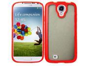 Samsung Galaxy S4 Case, eForCity TPU Rubber Candy Skin Case Cover Compatible With Samsung Galaxy S4 GT-i9500, Clear/Red 9SIA0PG5Z49678