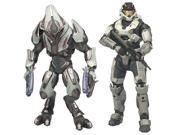 Halo Reach Series 1 Spartan and Elite 2 Pack Action Figure 9SIAD245E14748