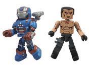 Diamond Select Toys Series 49 Marvel Minimates Iron Man 3: Iron Patriot and Extremis Action Figure 9SIA0PN11N2944
