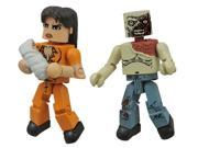Walking Dead Minimates: Series 4 Prison Lori and Shoulder Zombie Action Figure 9SIA88C6243139
