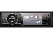 "Power Acoustik PDR-340T Single DIN Digital Media Receiver w/ Detachable 3.4"" LCD Screen and Analog TV Tuner"