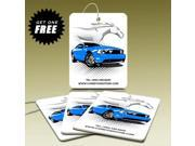 American Muscle Car Graphics Blue Car Air Freshener, 3 Pack