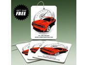 American Muscle Car Graphics Red Car Air Freshener, 3 Pack