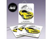 American Muscle Car Graphics Yellow Car Air Freshener, 3 Pack