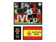 Image of Fernando Torres Spain National Team Double Matted 8x10 Photograph 2008 Euro Champs Game Winning Goal Milestone