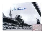 Image of Ron Turcotte Secretariat Horse Racing Hand Signed 16x20 Photograph Kentucky Derby Triple Crown Winner 1973 Black and White