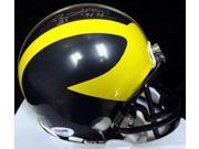 Desmond Howard Michigan Wolverines NCAA Hand Signed Mini Helmet with 91 Heisman Inscription