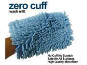Zero Cuff Blue Microfiber Auto Wash Mitt by Autofiber