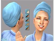 Real Clean Microfiber Hair Turban in BLUE 9SIA0S610V7445
