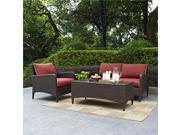 Kiawah 3 Piece Outdoor Wicker Seating Set