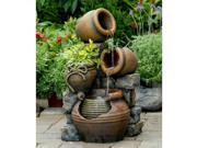 Jeco Multi Pots Outdoor Water Fountain with Flower Pot 9SIA00Y45D8779