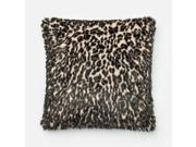 Loloi 1 10 x 1 10 Down Pillow in Black and Tan