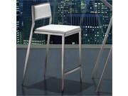 "ZUO Dolemite 26"" Modern Counter Stool in White (set of 2)"