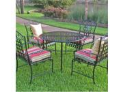 Blazing Needles Set of 4 Outdoor Patio Cushions-Kingsley Stripe Ruby