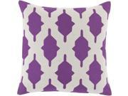 "Surya Salma Down Fill 22"" Square Pillow in Purple"