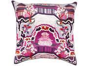 Surya Geisha Down Fill 20 Square Pillow in Purple