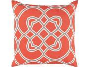 Surya Jorden Poly Fill 18 Square Pillow in Red and Gray