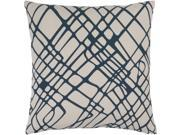 Surya Somerset Down Fill 20 Square Pillow in Navy