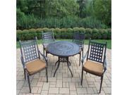 Oakland Living Belmont 5 Piece Metal Patio Dining Set in Aged