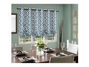 Commonwealth Thermalogic Trellis Tie Up Grommet Curtain Panel in Teal