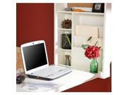 Southern Enterprises Leo Folding Desk in Winter White