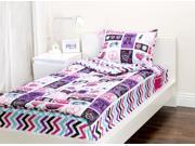 Zipit Bedding Set, Rock Princess - Twin - Zip-Up Your Sheets and Comforter Like a Sleeping Bag!