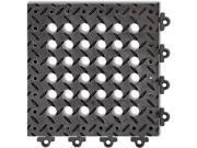 NOTRAX Drainage Mat Black 1 ft. x 1 ft. PVC 12 PK 620S1212BL