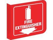 Brady Fire Extinguisher Sign 8 x 8In WHT R ENG L0FE15A