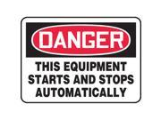 ACCUFORM SIGNS Danger Sign 7 x 10In R and BK WHT ENG MEQM087VS