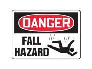 ACCUFORM SIGNS Danger Sign 10 x 14In R and BK WHT ENG MCSP188VS