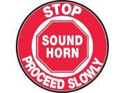 ACCUFORM SIGNS Floor Sign Stop Sound 17 In. Dia. MFS705