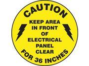 ACCUFORM SIGNS Floor Sign Caution 17 In. Dia. MFS778